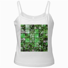 Background Of Green Squares Ladies Camisoles
