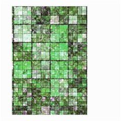 Background Of Green Squares Small Garden Flag (two Sides)
