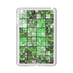 Background Of Green Squares Ipad Mini 2 Enamel Coated Cases