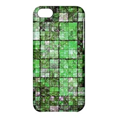 Background Of Green Squares Apple Iphone 5c Hardshell Case