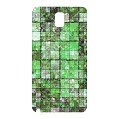 Background Of Green Squares Samsung Galaxy Note 3 N9005 Hardshell Back Case