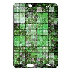 Background Of Green Squares Amazon Kindle Fire Hd (2013) Hardshell Case by Nexatart
