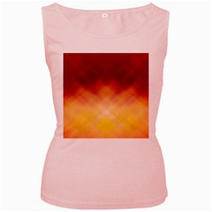 Background Textures Pattern Design Women s Pink Tank Top