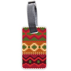 Background Plot Fashion Luggage Tags (two Sides) by Nexatart