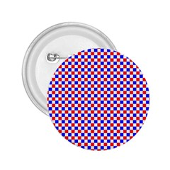 Blue Red Checkered 2 25  Buttons