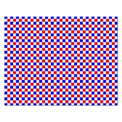 Blue Red Checkered Rectangular Jigsaw Puzzl by Nexatart