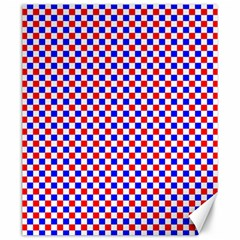 Blue Red Checkered Canvas 20  X 24