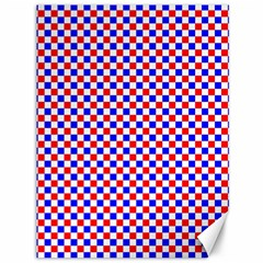 Blue Red Checkered Canvas 36  X 48