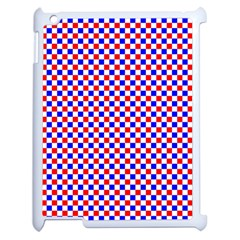 Blue Red Checkered Apple Ipad 2 Case (white)
