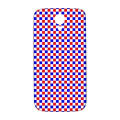 Blue Red Checkered Samsung Galaxy S4 I9500/i9505  Hardshell Back Case