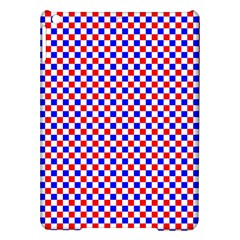 Blue Red Checkered Ipad Air Hardshell Cases by Nexatart
