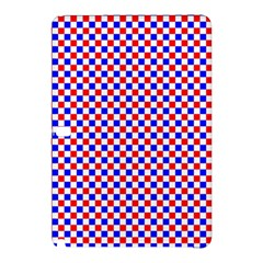 Blue Red Checkered Samsung Galaxy Tab Pro 12 2 Hardshell Case by Nexatart