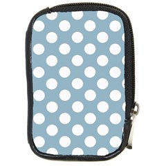 Blue Polkadot Background Compact Camera Cases