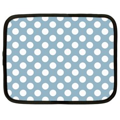 Blue Polkadot Background Netbook Case (xl)
