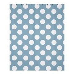 Blue Polkadot Background Shower Curtain 60  X 72  (medium)