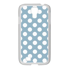 Blue Polkadot Background Samsung Galaxy S4 I9500/ I9505 Case (white)