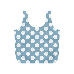 Blue Polkadot Background Full Print Recycle Bags (s)
