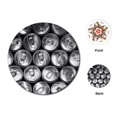 Black And White Doses Cans Fuzzy Drinks Playing Cards (round)