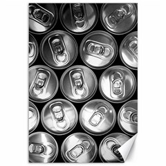Black And White Doses Cans Fuzzy Drinks Canvas 12  X 18   by Nexatart