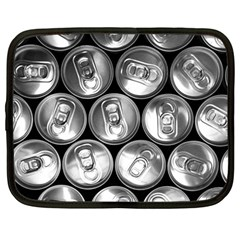 Black And White Doses Cans Fuzzy Drinks Netbook Case (large) by Nexatart