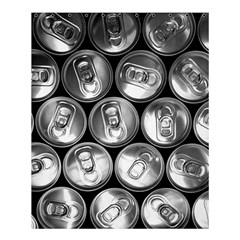 Black And White Doses Cans Fuzzy Drinks Shower Curtain 60  X 72  (medium)  by Nexatart