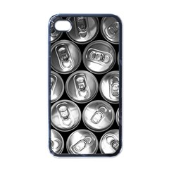 Black And White Doses Cans Fuzzy Drinks Apple Iphone 4 Case (black)