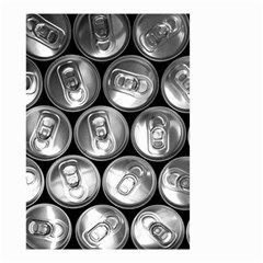 Black And White Doses Cans Fuzzy Drinks Small Garden Flag (two Sides)