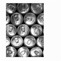 Black And White Doses Cans Fuzzy Drinks Large Garden Flag (two Sides)