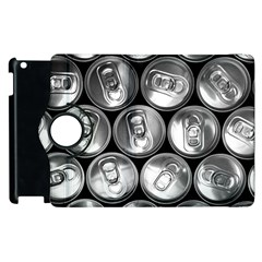 Black And White Doses Cans Fuzzy Drinks Apple Ipad 2 Flip 360 Case by Nexatart