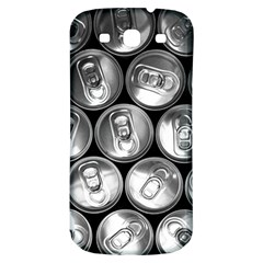 Black And White Doses Cans Fuzzy Drinks Samsung Galaxy S3 S Iii Classic Hardshell Back Case by Nexatart