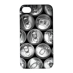 Black And White Doses Cans Fuzzy Drinks Apple Iphone 4/4s Hardshell Case With Stand