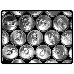 Black And White Doses Cans Fuzzy Drinks Double Sided Fleece Blanket (large)
