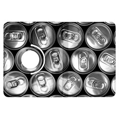 Black And White Doses Cans Fuzzy Drinks Kindle Fire Hdx Flip 360 Case by Nexatart