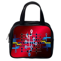 Board Circuits Trace Control Center Classic Handbags (one Side)
