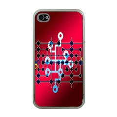 Board Circuits Trace Control Center Apple Iphone 4 Case (clear)