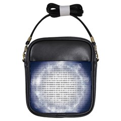 Binary Computer Technology Code Girls Sling Bags