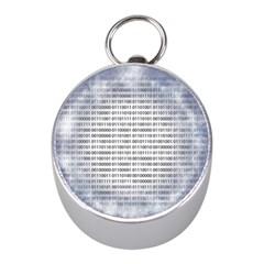 Binary Computer Technology Code Mini Silver Compasses