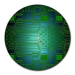 Board Conductors Circuits Round Mousepads by Nexatart