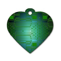 Board Conductors Circuits Dog Tag Heart (two Sides)