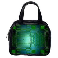 Board Conductors Circuits Classic Handbags (one Side) by Nexatart