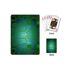 Board Conductors Circuits Playing Cards (mini)  by Nexatart