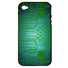 Board Conductors Circuits Apple Iphone 4/4s Hardshell Case (pc+silicone)