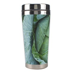 Bright Cabbage Color Dew Flora Stainless Steel Travel Tumblers