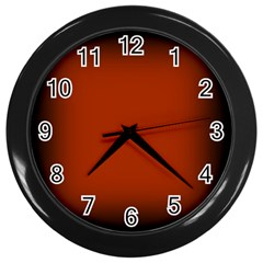 Brown Gradient Frame Wall Clocks (black) by Nexatart