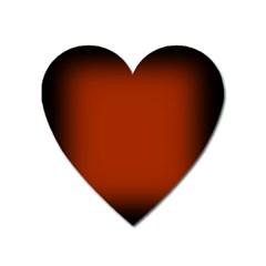 Brown Gradient Frame Heart Magnet by Nexatart