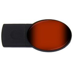 Brown Gradient Frame Usb Flash Drive Oval (2 Gb) by Nexatart