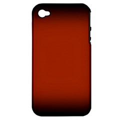 Brown Gradient Frame Apple Iphone 4/4s Hardshell Case (pc+silicone)
