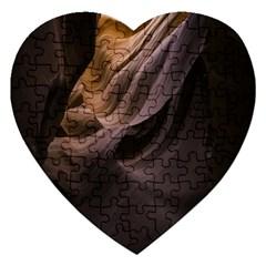 Canyon Desert Landscape Pattern Jigsaw Puzzle (heart)