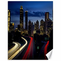 Building And Red And Yellow Light Road Time Lapse Canvas 18  X 24   by Nexatart