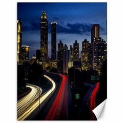 Building And Red And Yellow Light Road Time Lapse Canvas 36  X 48